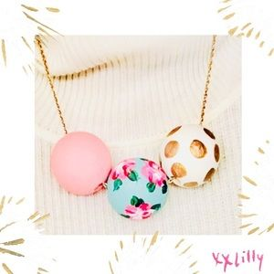 Lilly Collective Bauble Necklace Wood Handmade